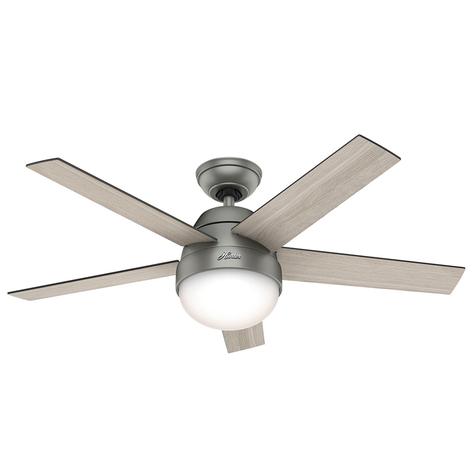 Hunter Stile ventilátor se světlem šedá/ořech