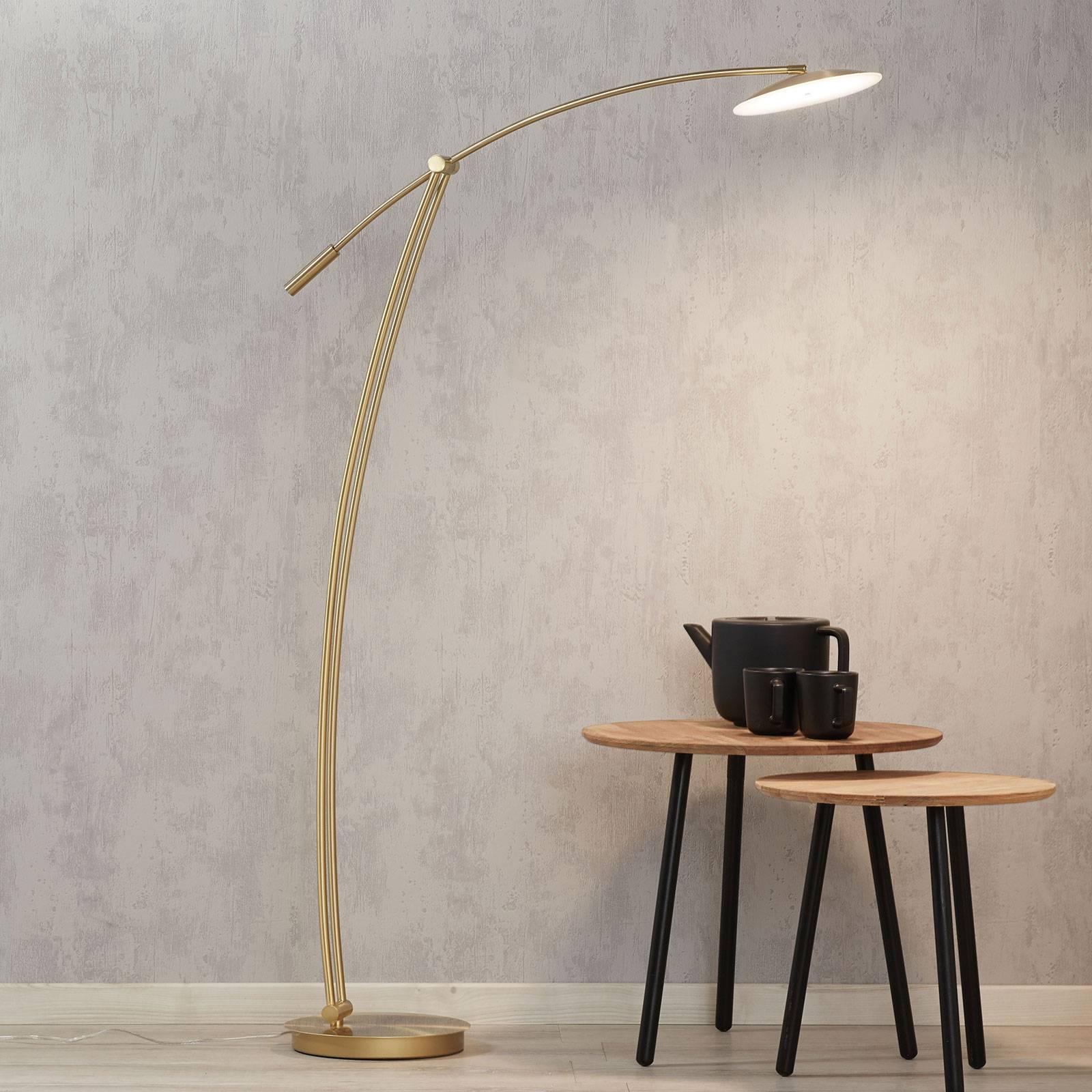 B-Leuchten Ohio lampadaire LED laiton mat/poli