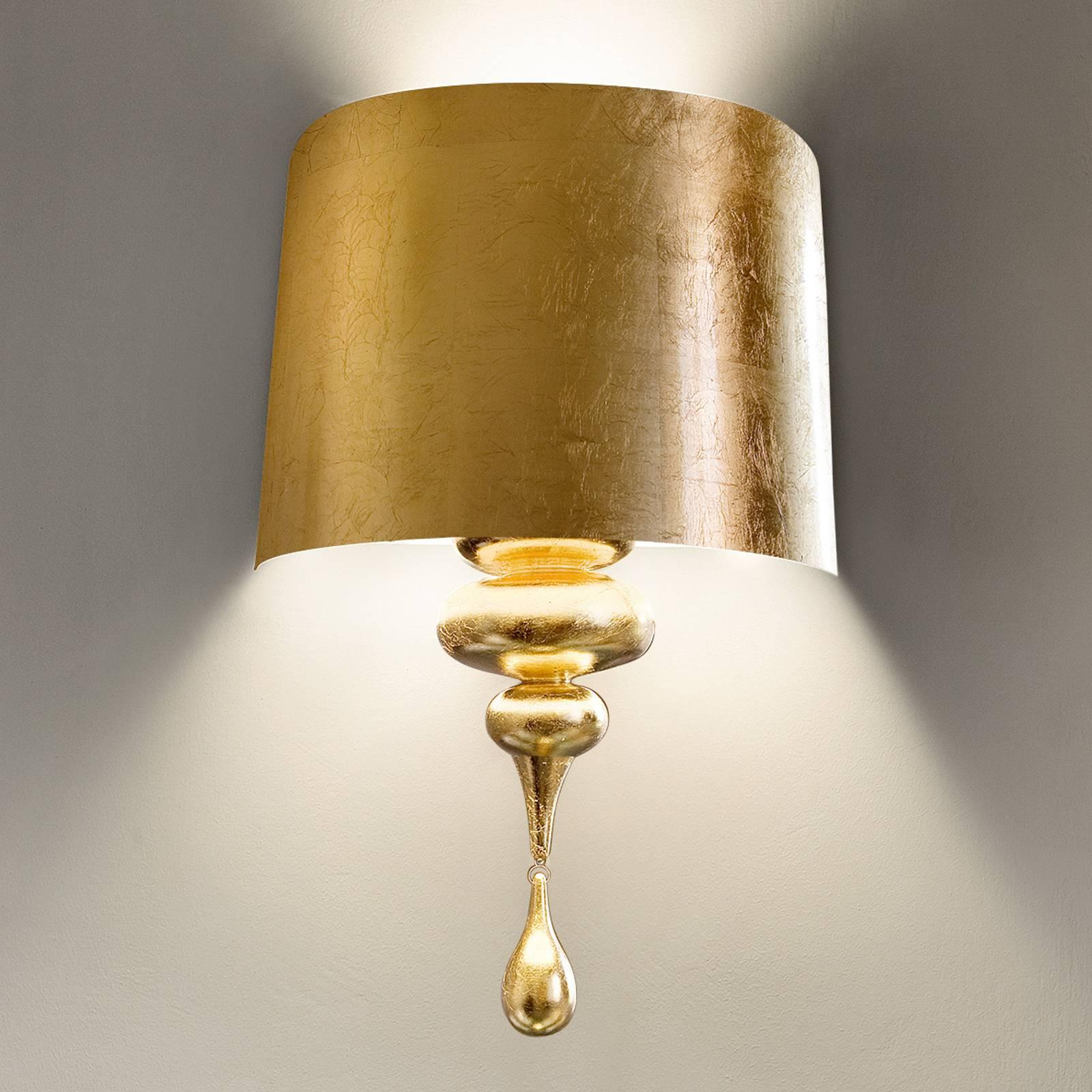 Exclusieve wandlamp Eva A3, goud