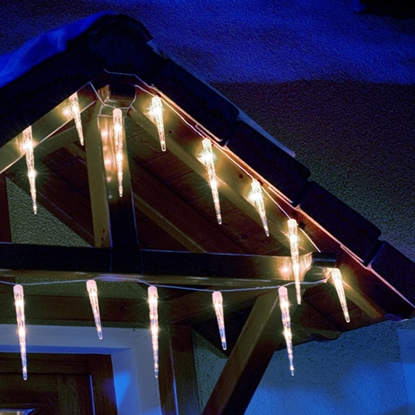 Zasłona świetlna sopel lodu LED z 32 soplami
