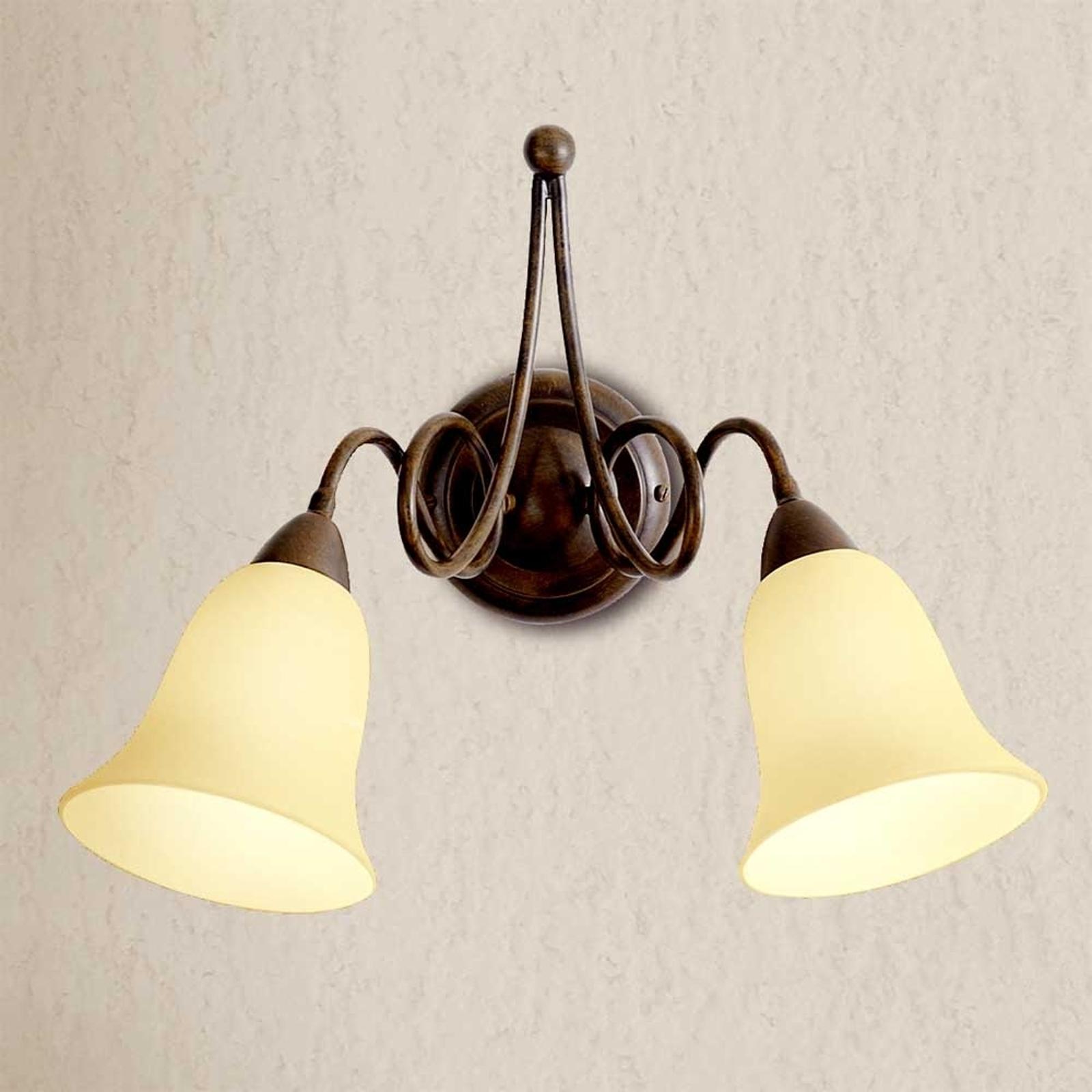 Applique rustique Michele à 2 lampes