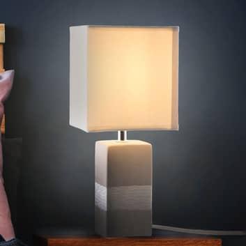 Lámpara de mesa Creto con pantalla y pie angular