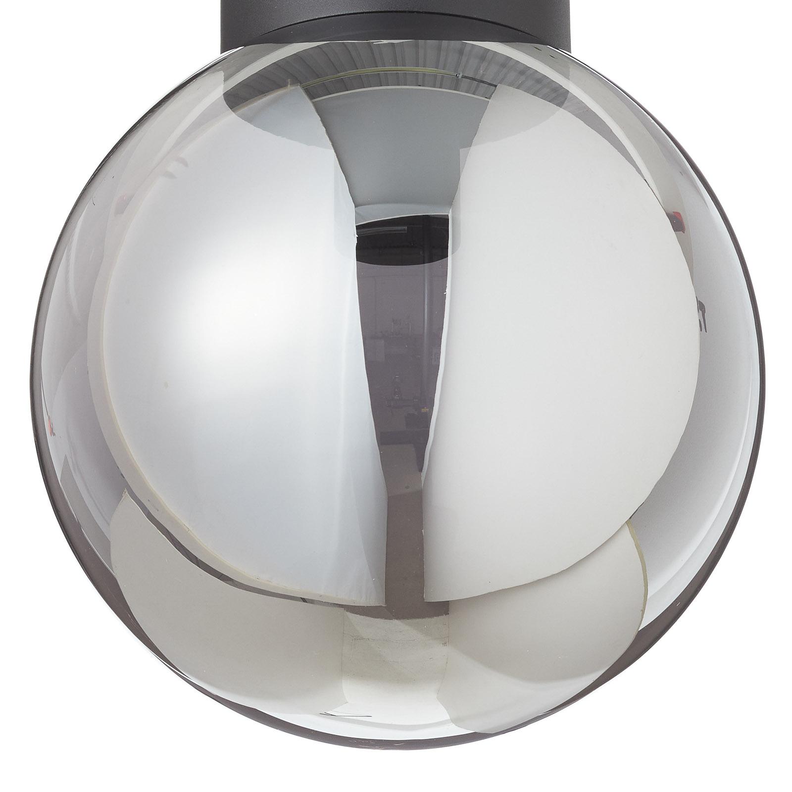 Lampa sufitowa Astro, kulisty klosz, szary Ø 25 cm