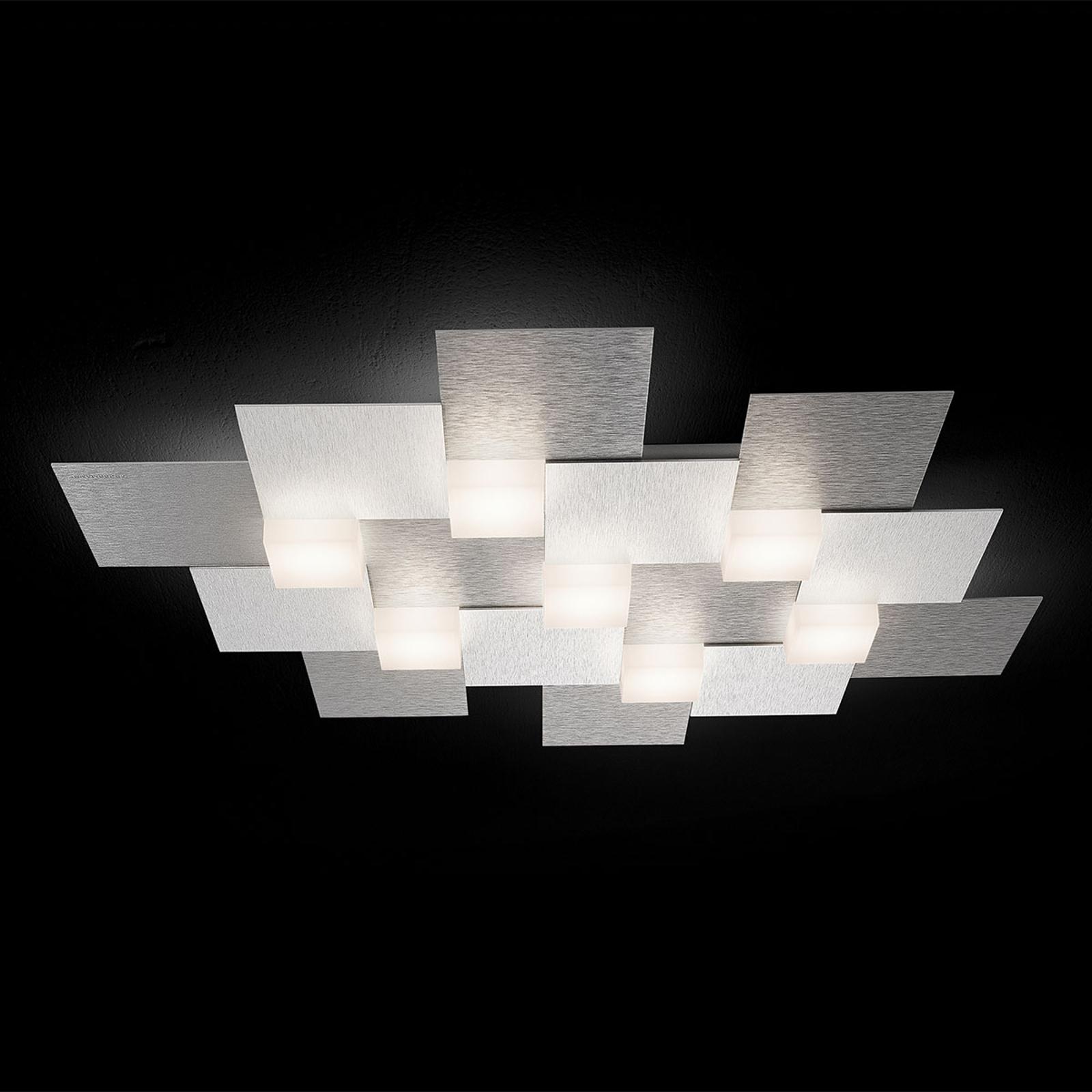 GROSSMANN Creo LED-Deckenleuchte, 7fl. alu
