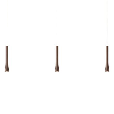 Variabel LED-pendellampa Rio i modern brun färg