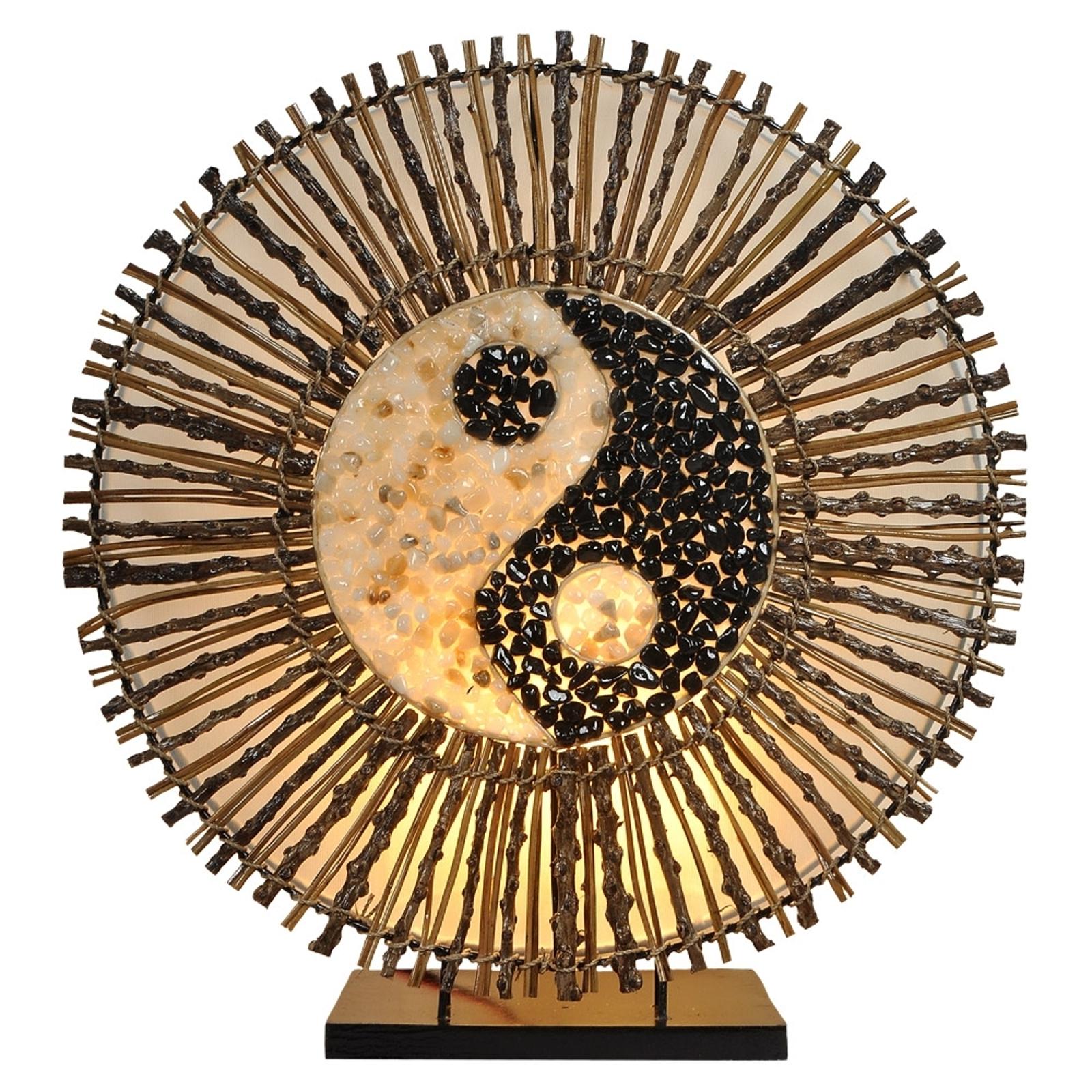 Stolná lampa Ying Yang Batur okrúhla 40cm hnedá_9655155_1