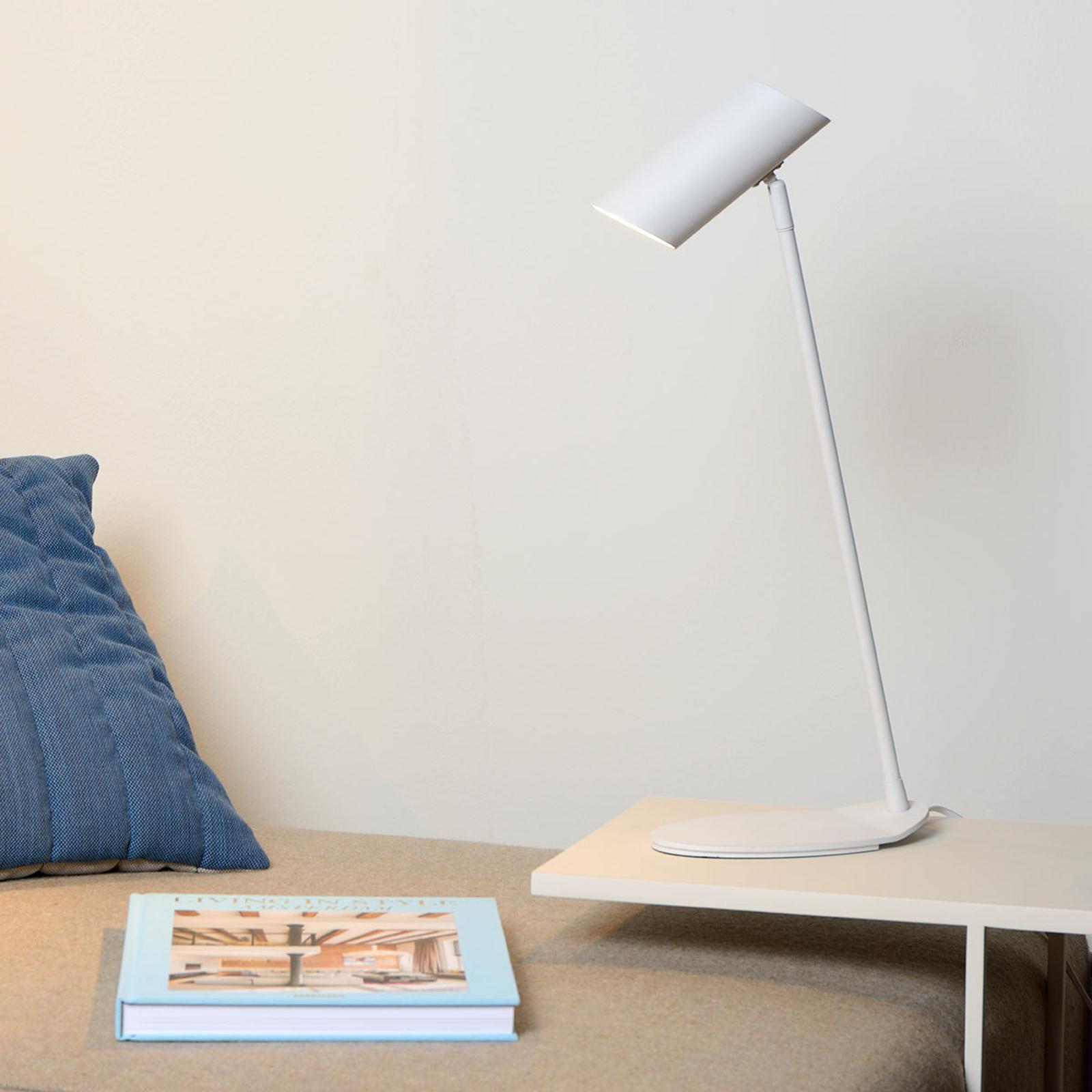Lampe de bureau blanche Hester en métal