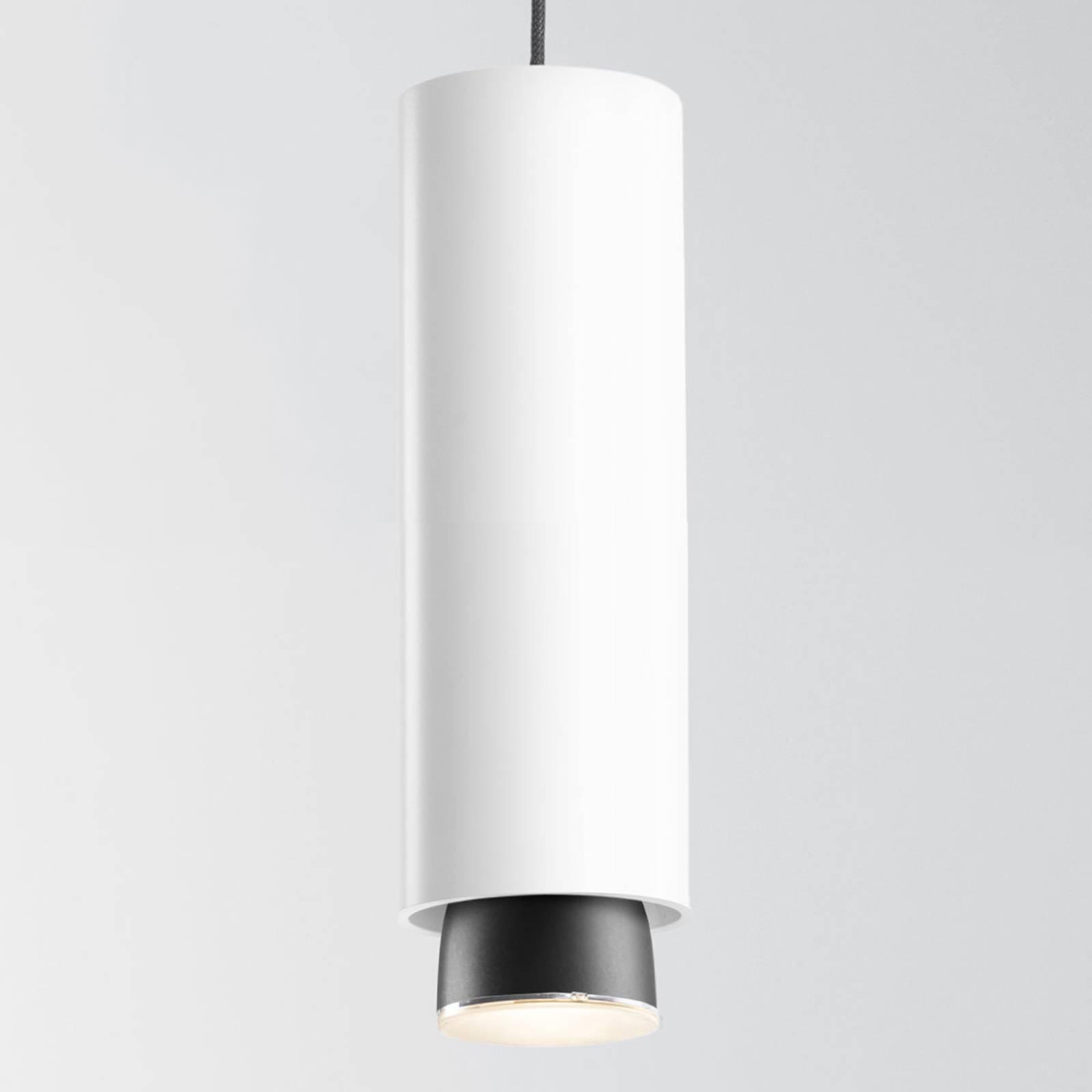 Fabbian Claque LED-Hängeleuchte 30 cm weiß
