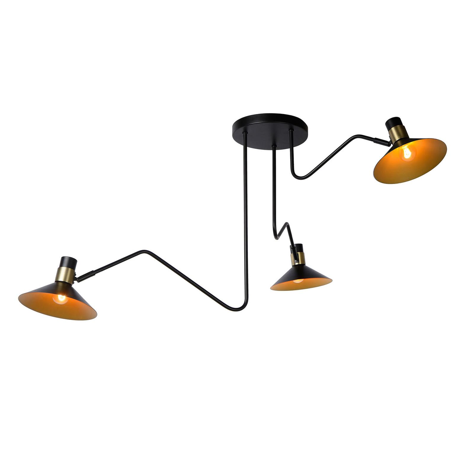 Pepijn loftlampe, 3 lyskilder