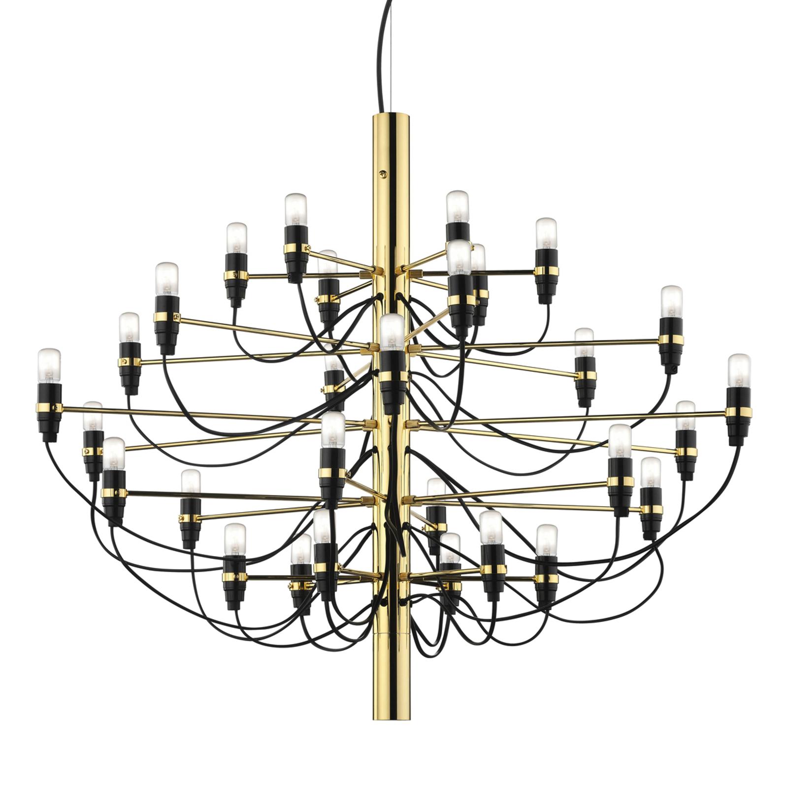 FLOS 2097 - ljuskrona, 50 lampor, mässing
