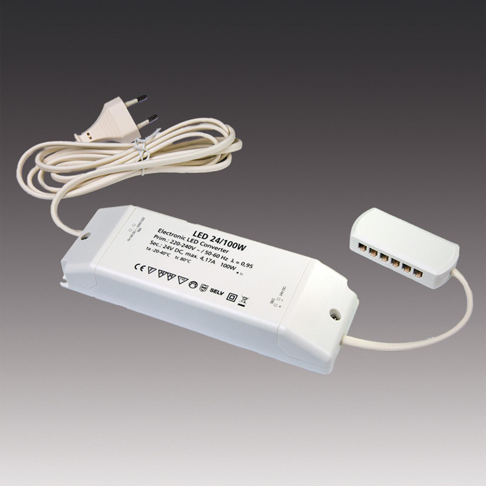 Transformateur LED 24/100W DC 24V