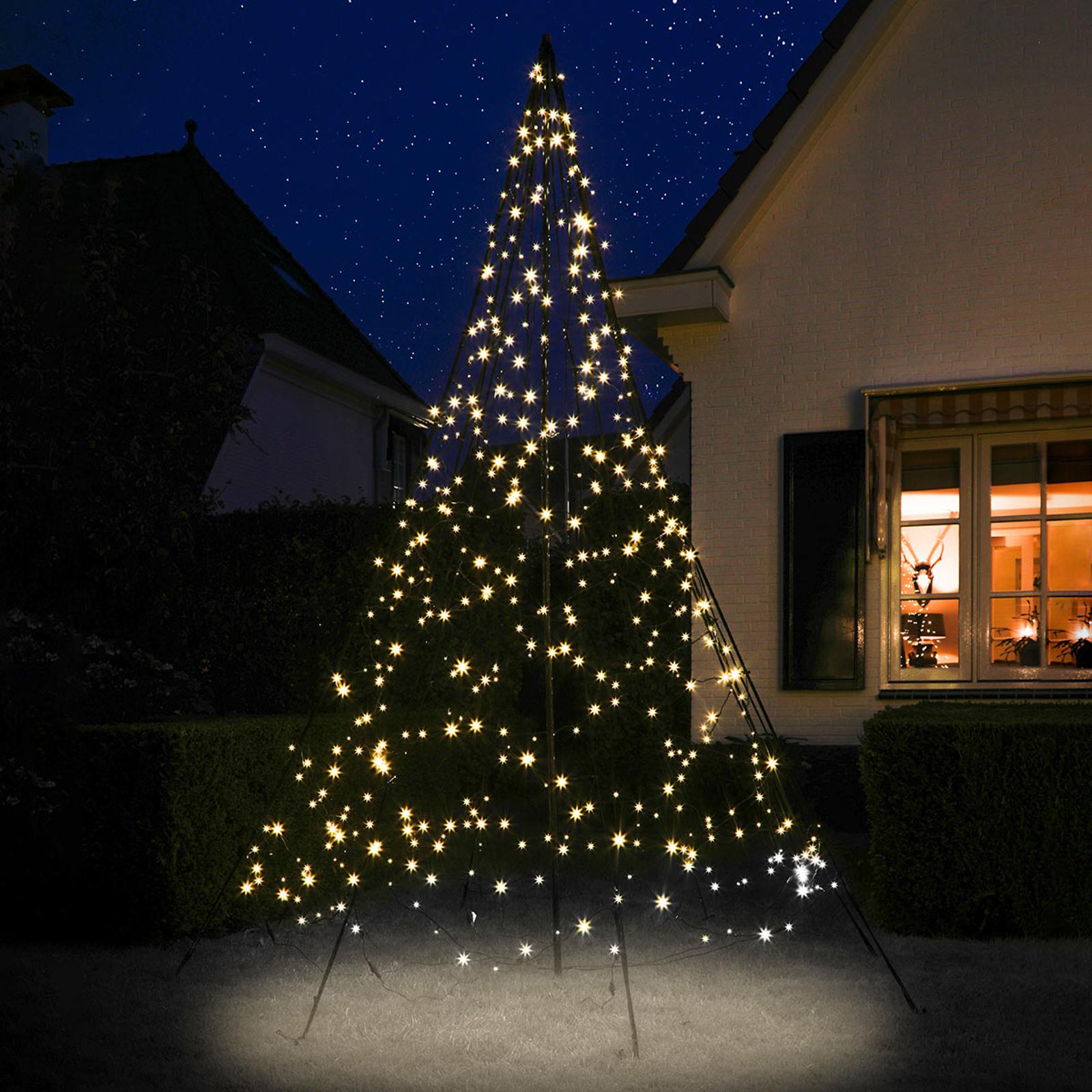Fairybell® juletræ med midterstang, 3 m, blinkende