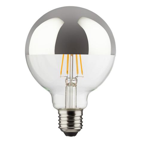 E27 8W 827 LED kopspiegellamp, bolvorm
