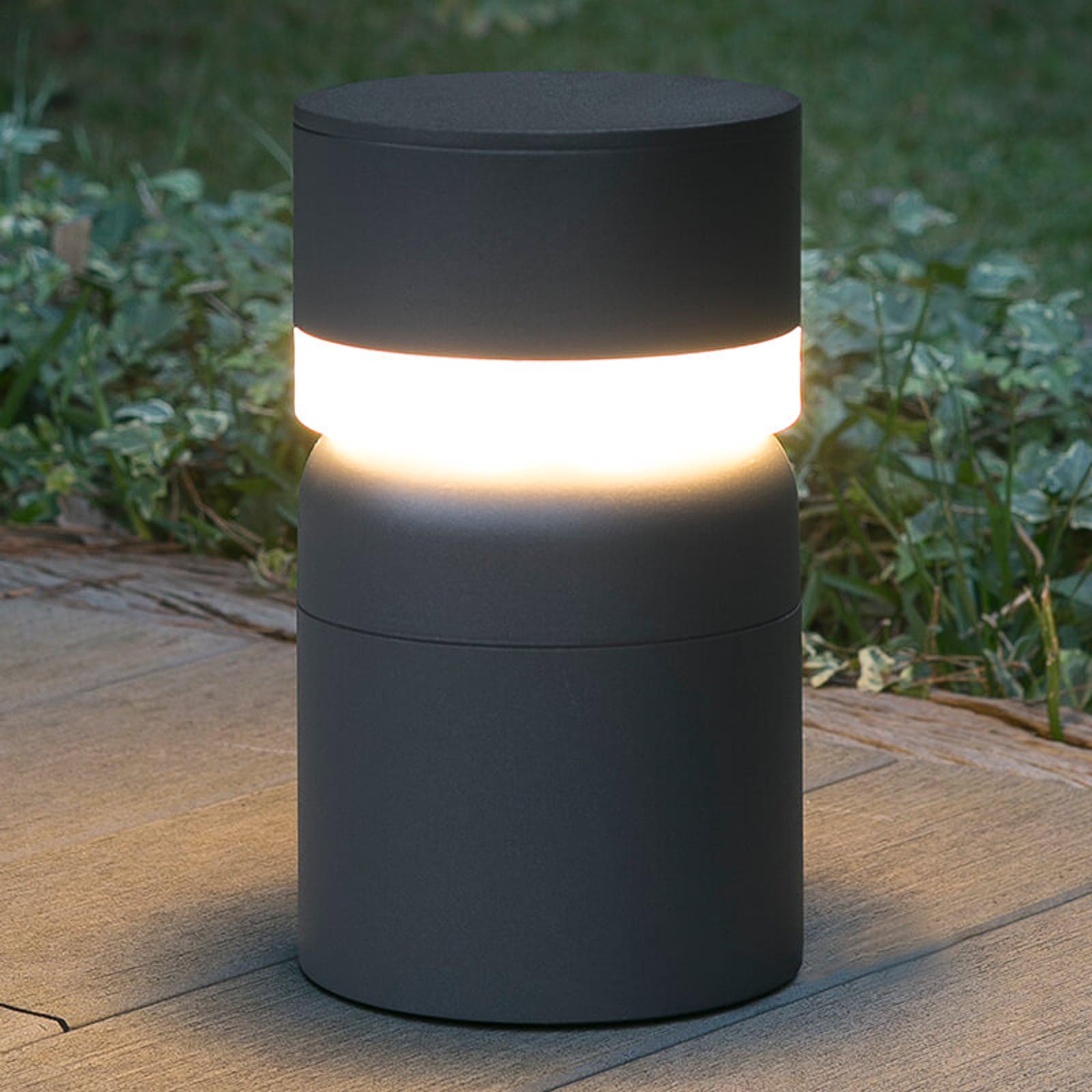 LED-Sockelleuchte Sete, dunkelgrau
