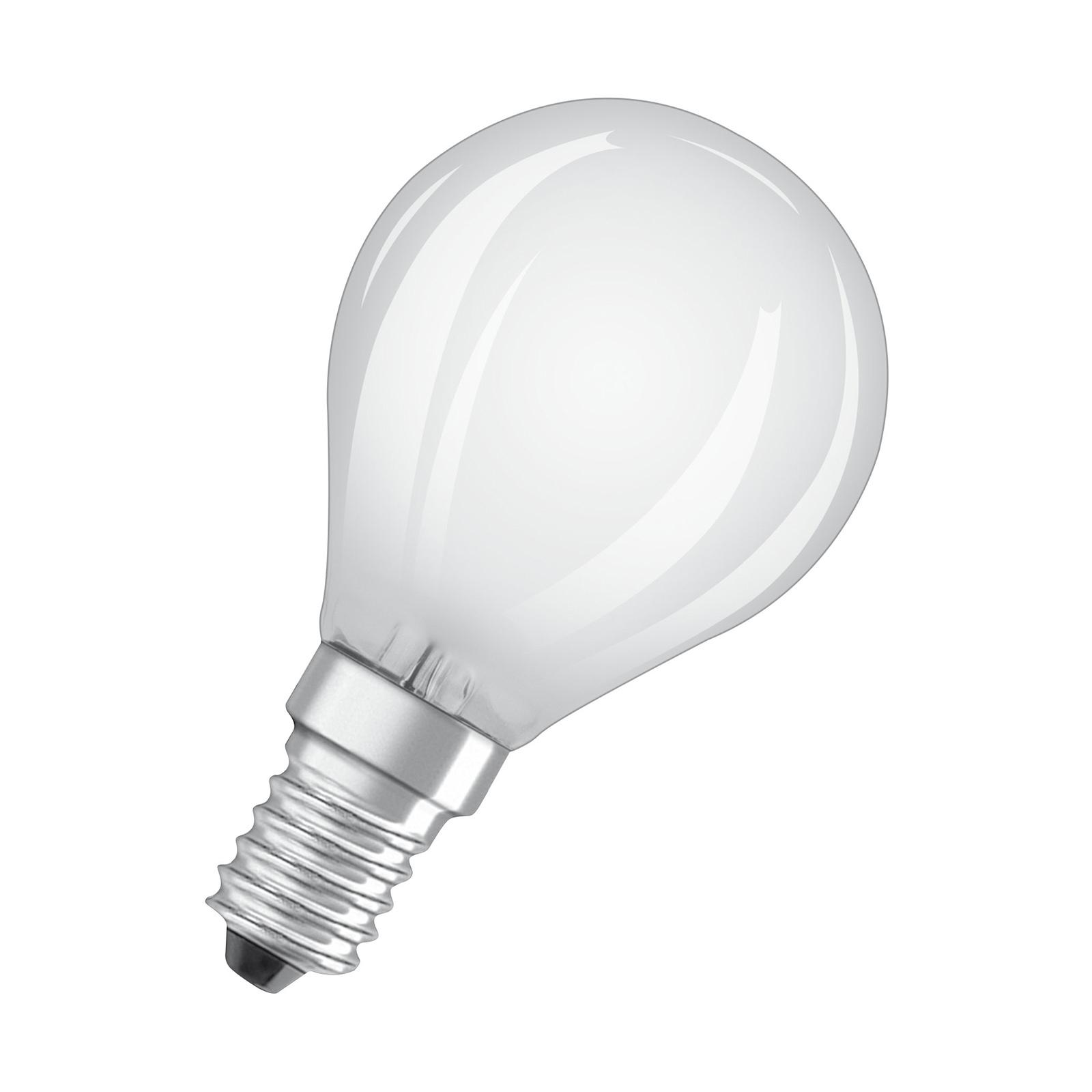 OSRAM LED-Tropfenlampe E14 6,5W 840 matt dimmbar