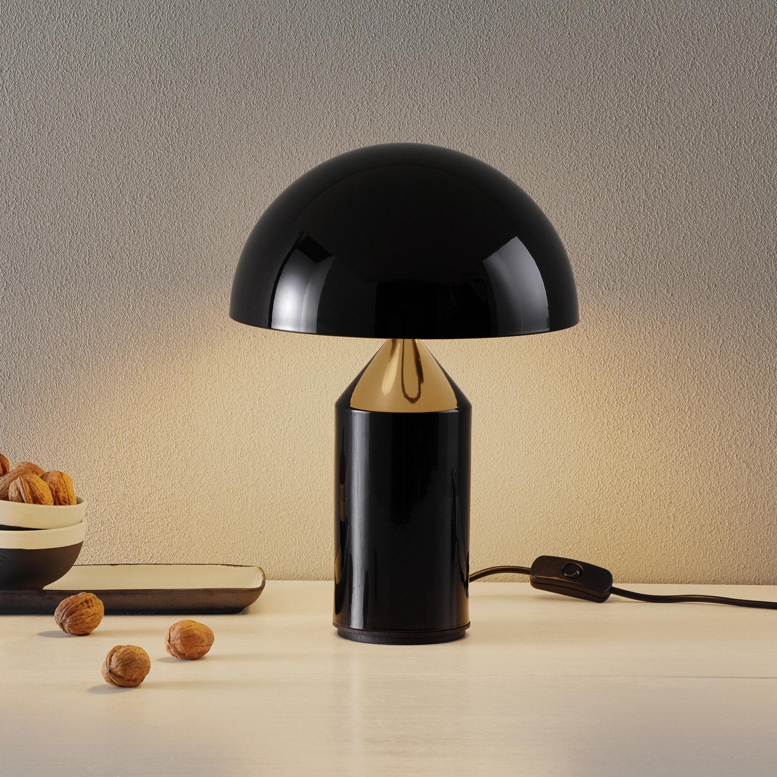 Oluce Atollo - lampe à poser noire, 35cm