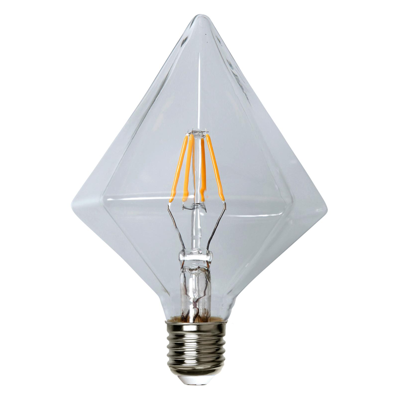 E27 3,2W 827 LED-Lampe, diamantenförmig 16,5 cm