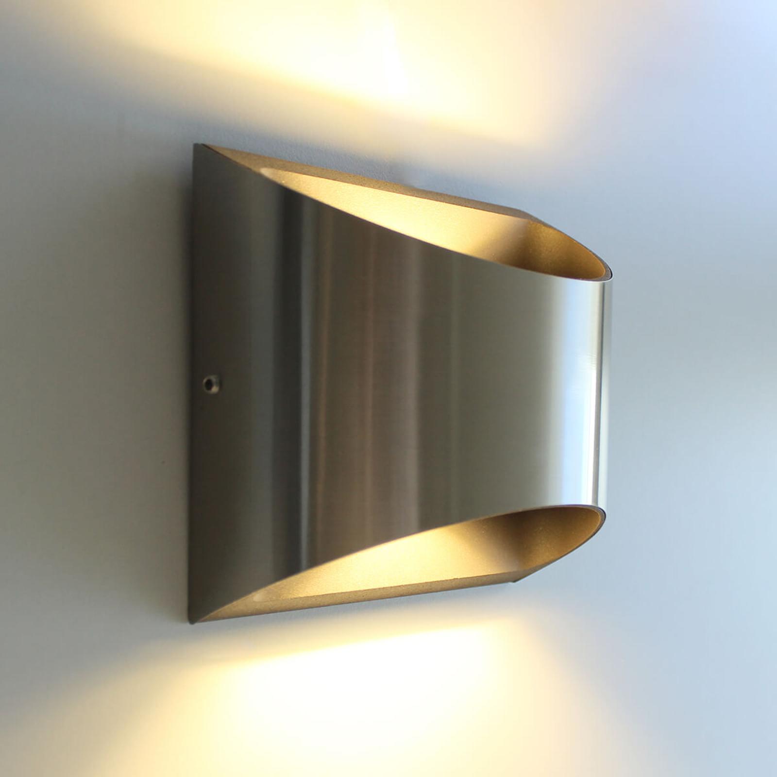 Dodd - udendørsvæglampe i rustfrit stål med LED