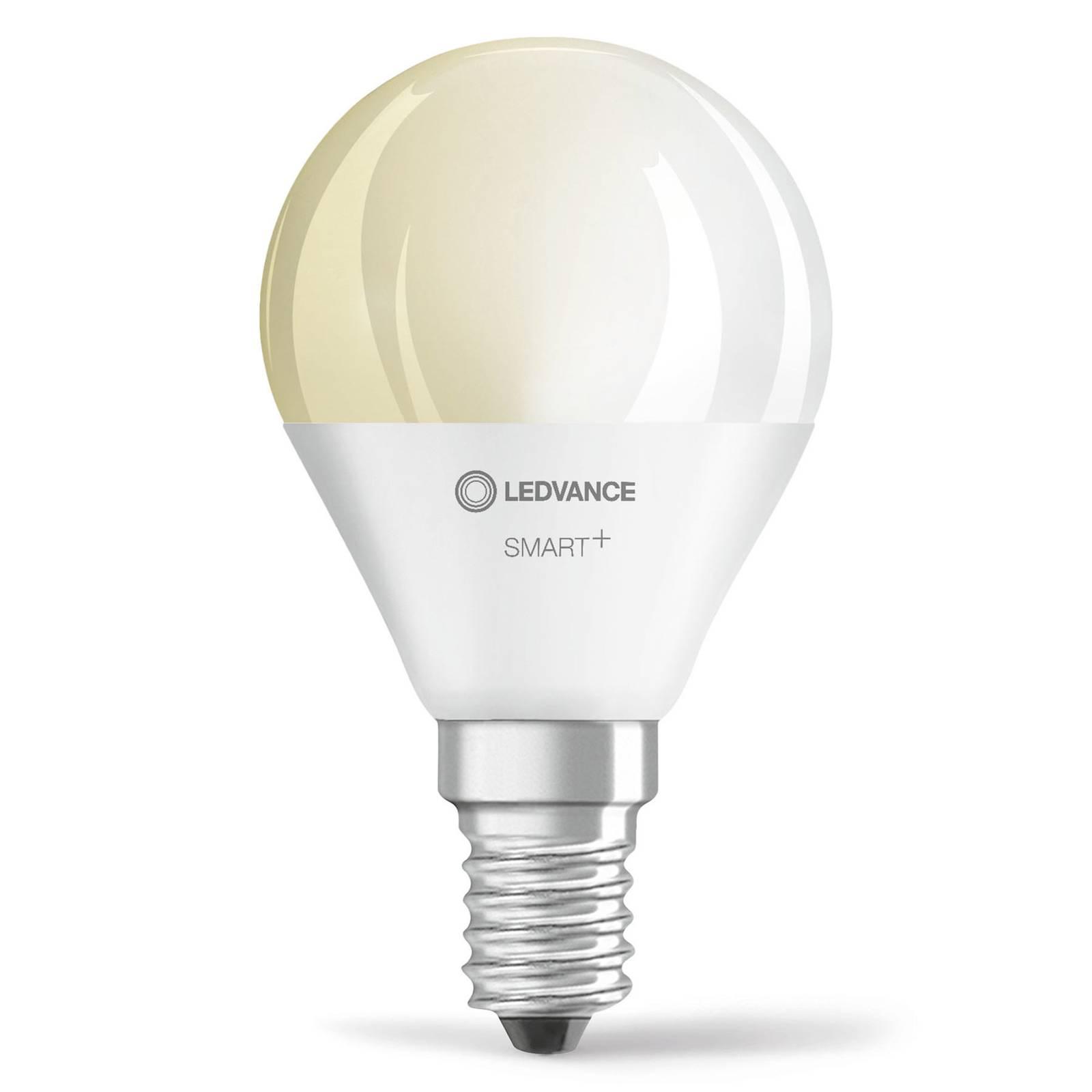 LEDVANCE SMART+ WiFi E14 5W goccia 2.700K