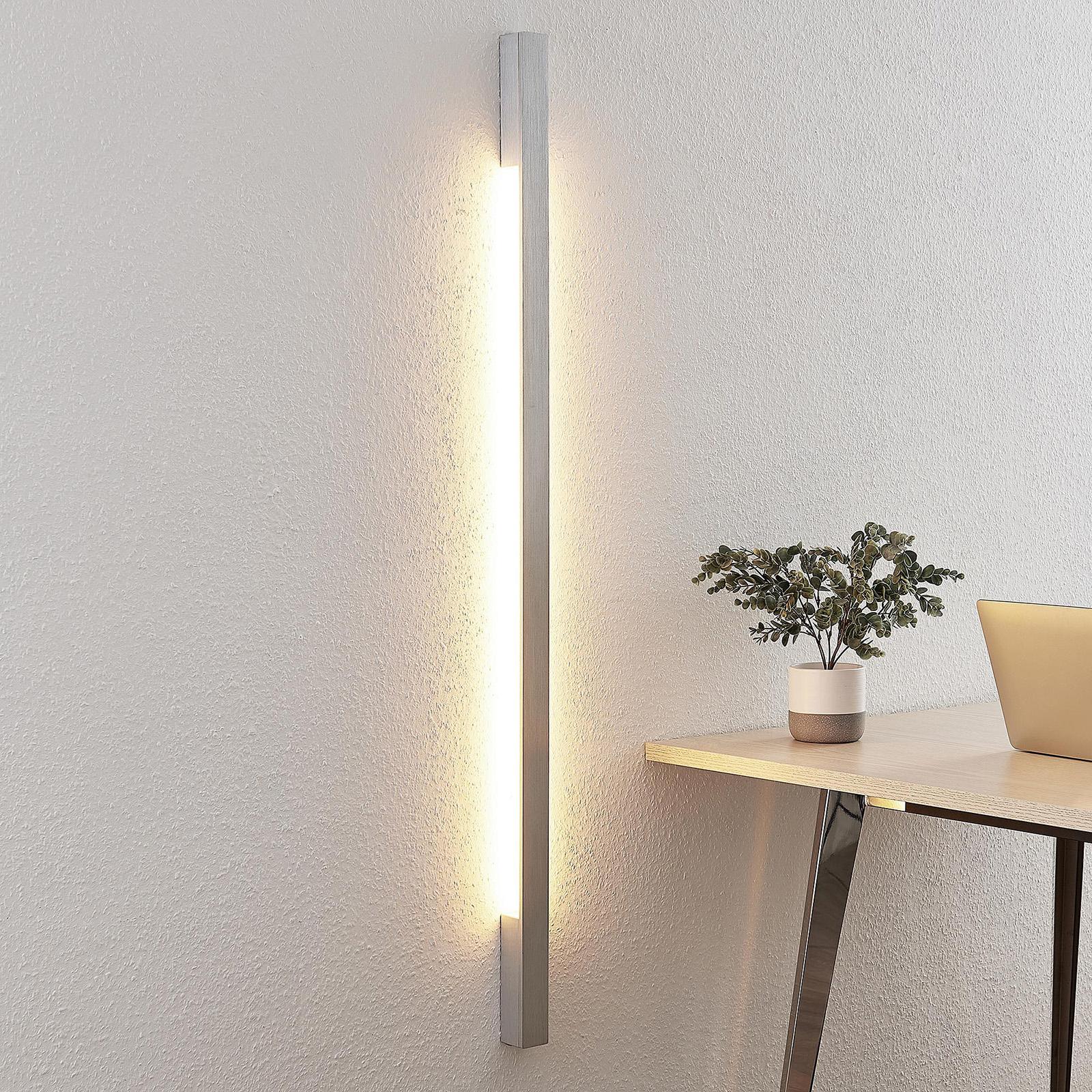 Arcchio Ivano LED-Wandleuchte, 130 cm, alu