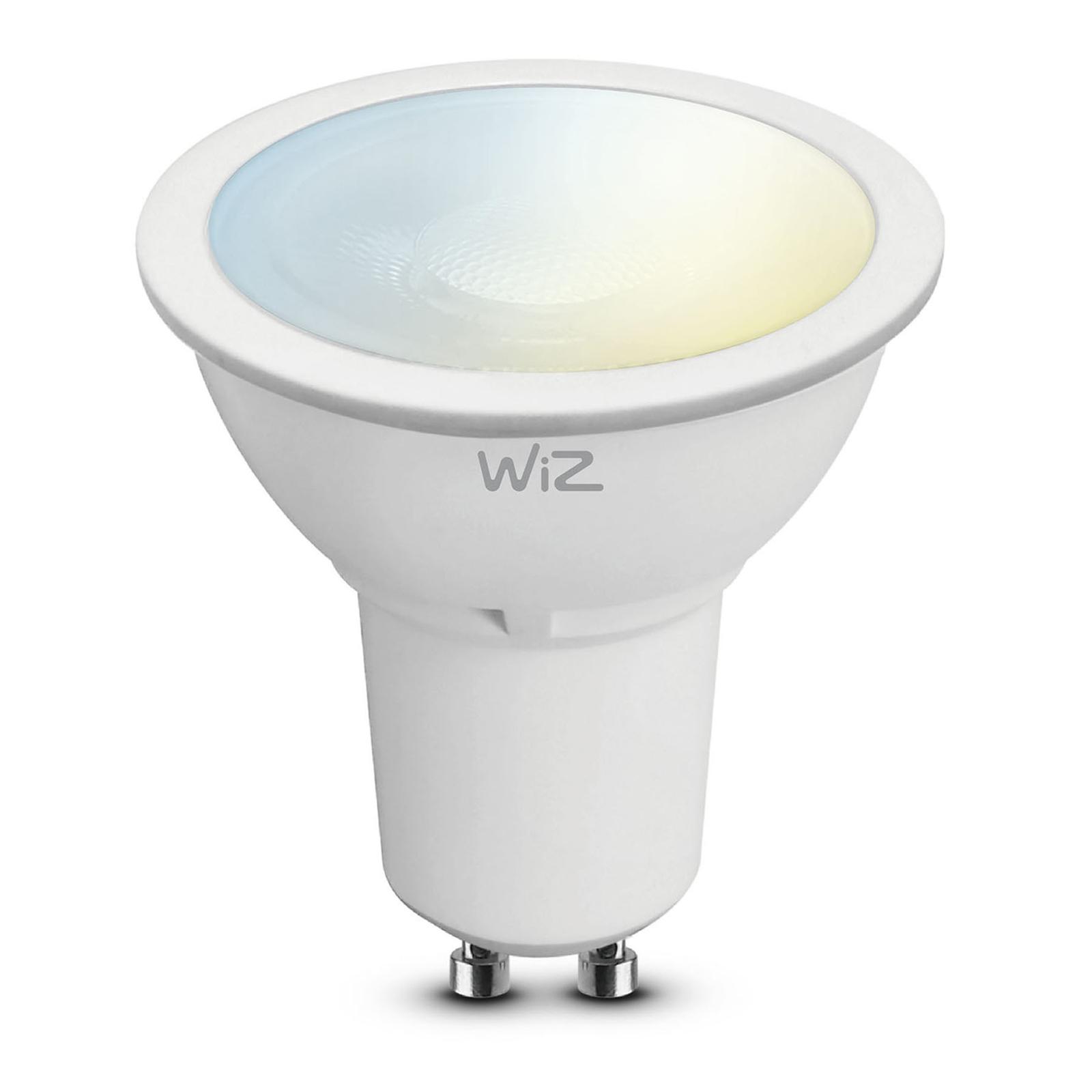 WiZ GU10 LED-lampa, Ø 5 cm, 5,5 W, 2700-6500K