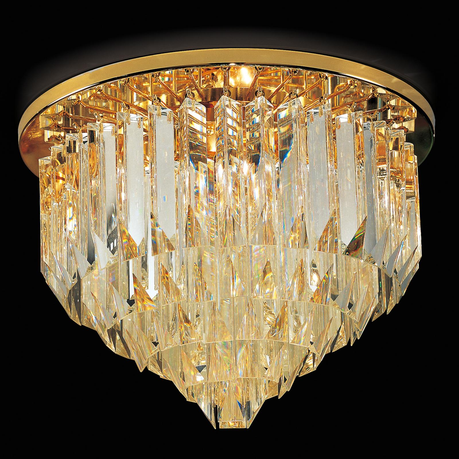 Cristalli taklampe, 45 cm i gull