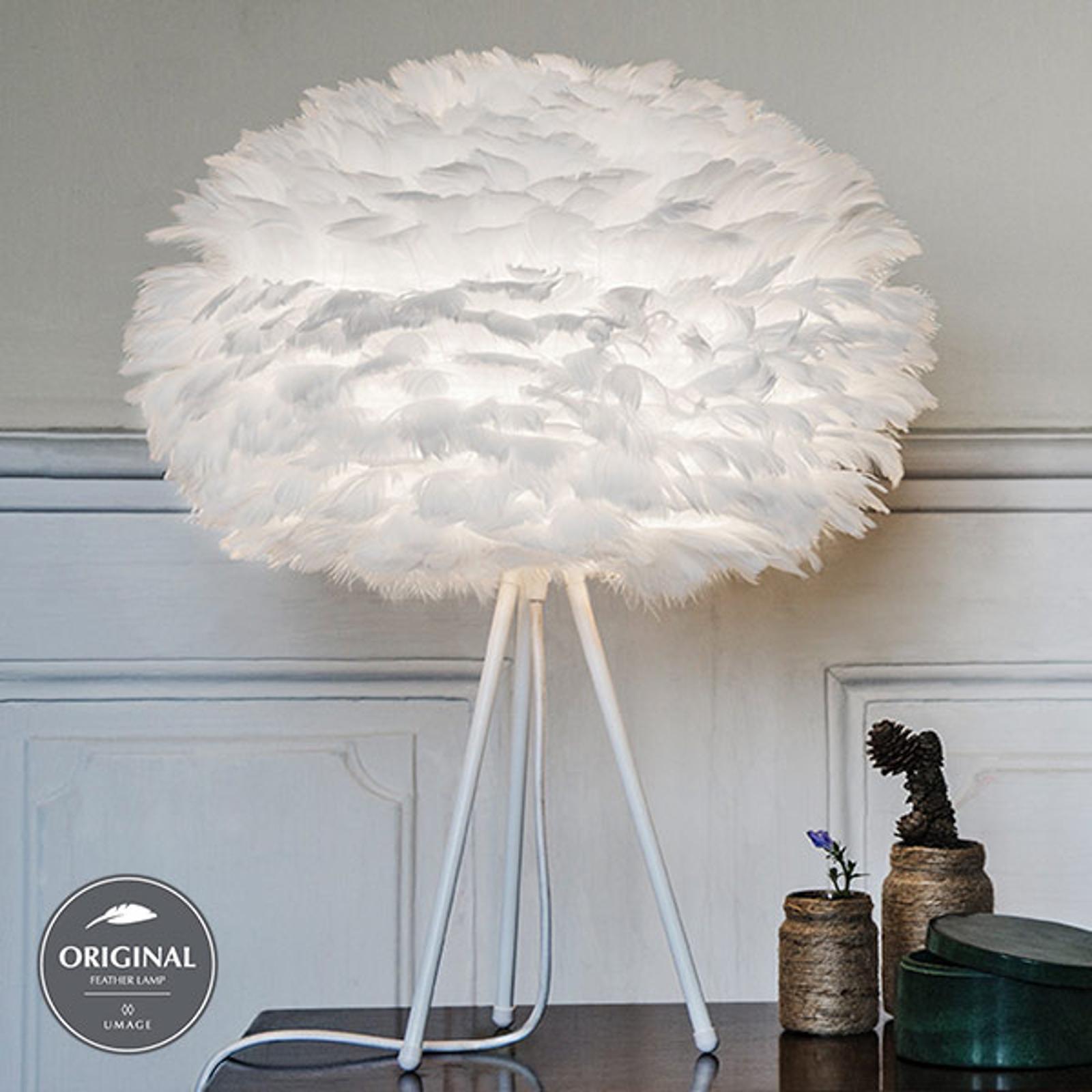 Designerbordlampe Eos medium hvit