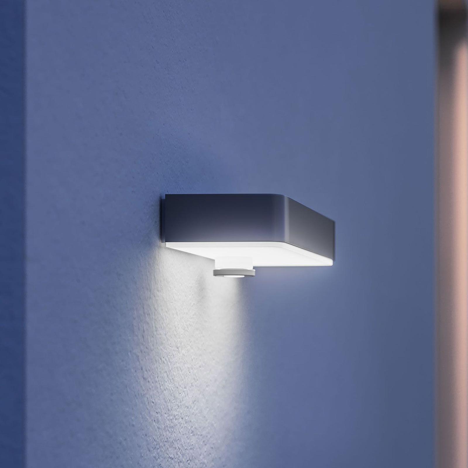 STEINEL XSolar SOL-O LED-vegglampe sensor sølv