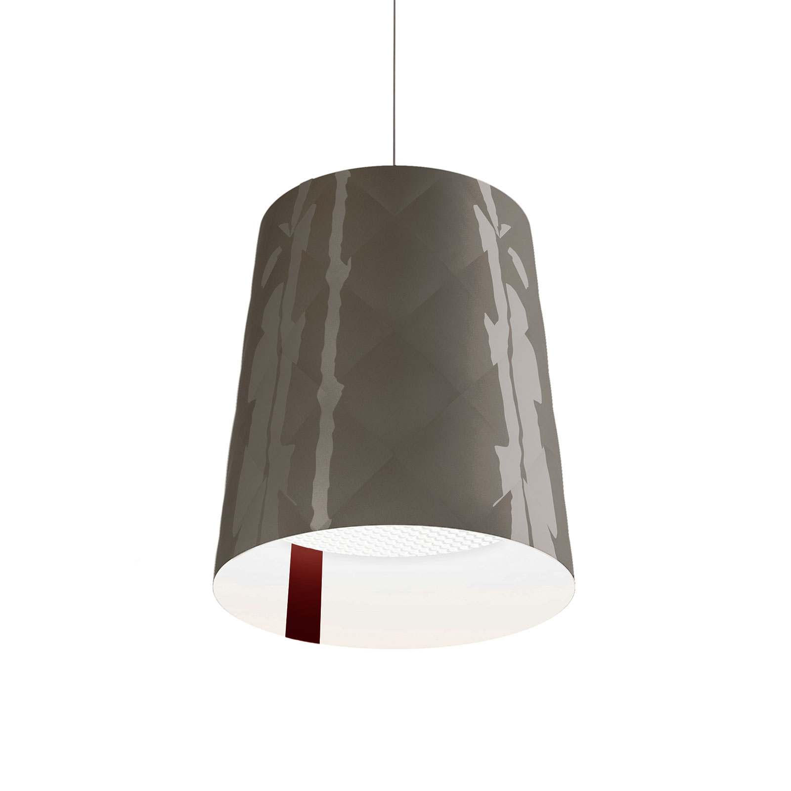 Kundalini New York lampa wisząca, Ø 33 cm, szara