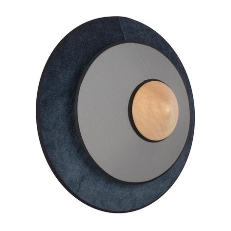 Forestier Cymbal S LED-Wandleuchte aus Textil