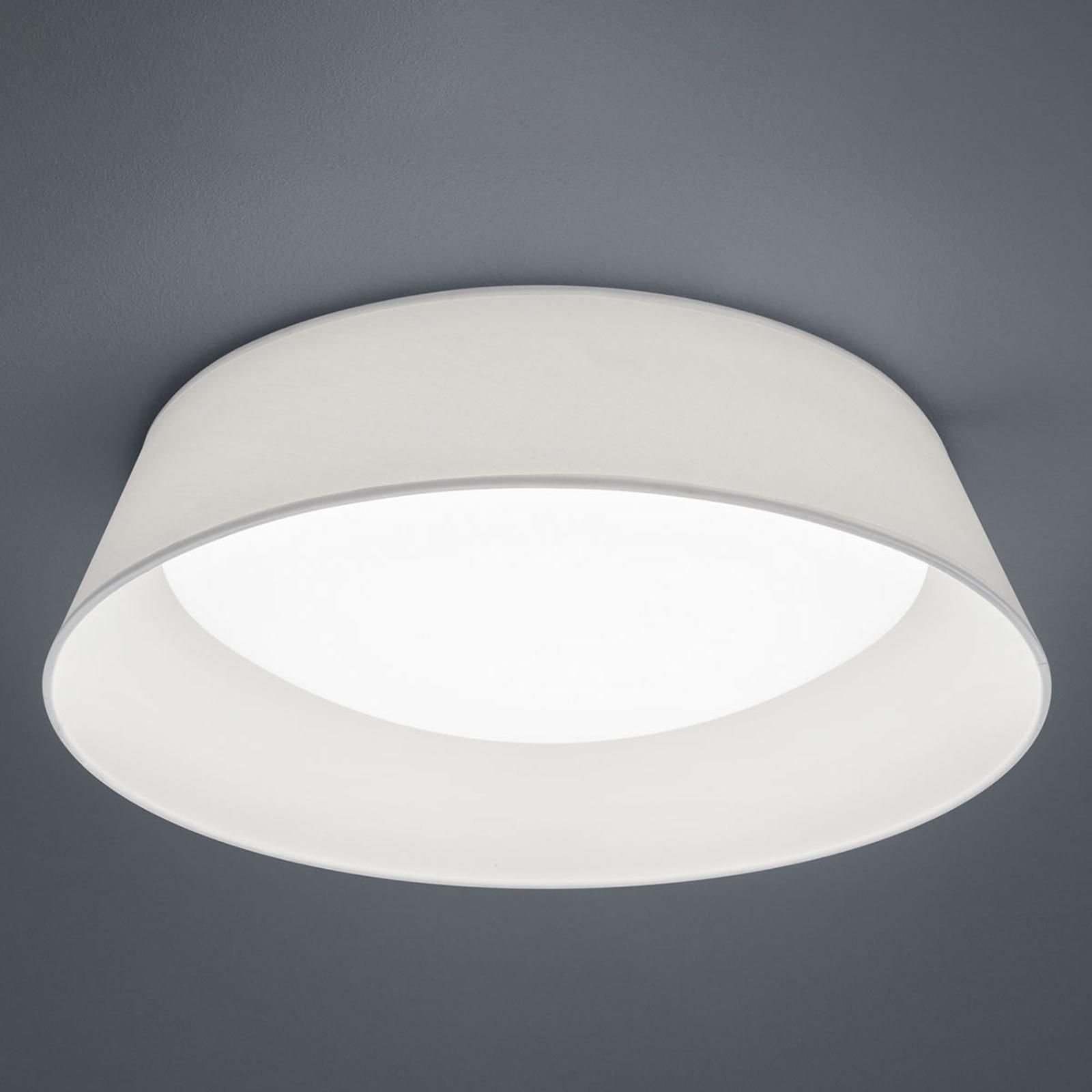 Lampa sufitowa LED Ponts, biały tekstylny klosz