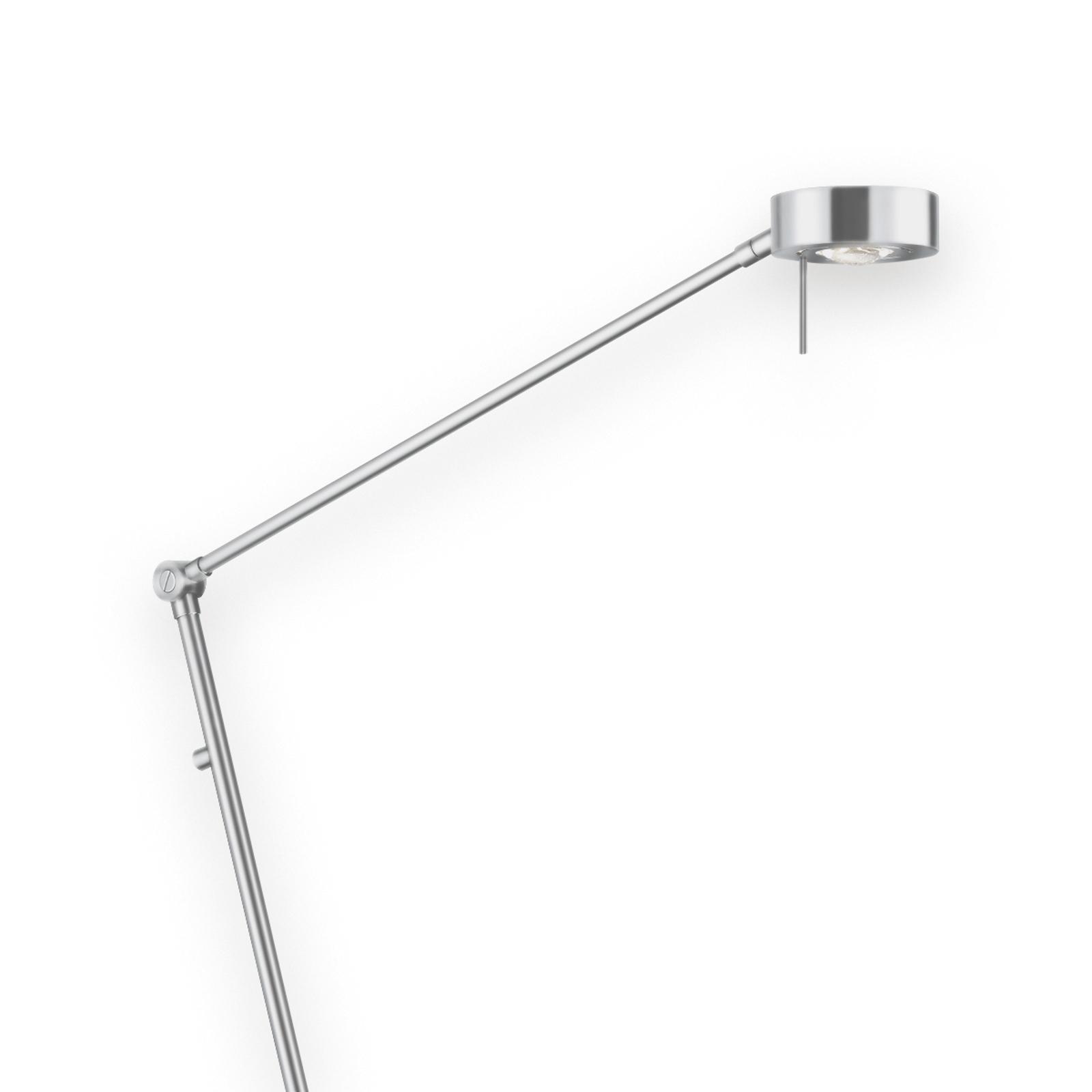 Tenká stojací lampa LED Elegance 3 klouby nikl