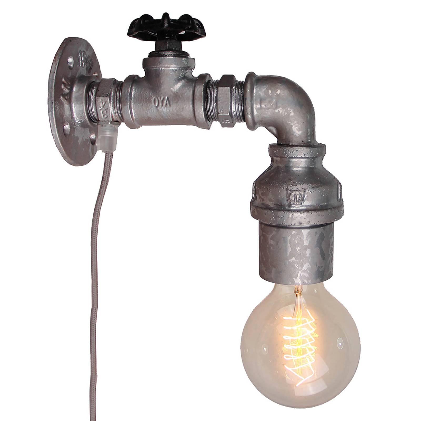 Wandlamp Pipe met schakelaar