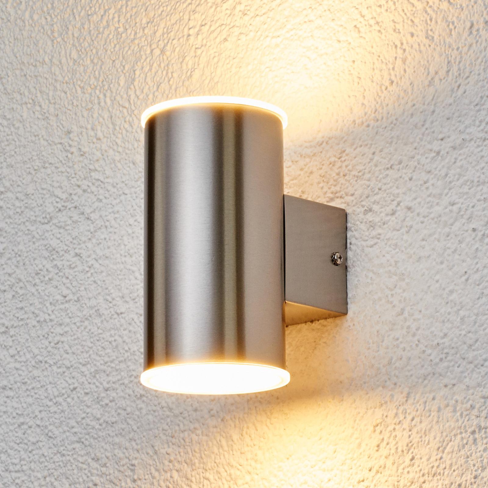 Morena - utomhusvägglampa i rostfritt stål m LED