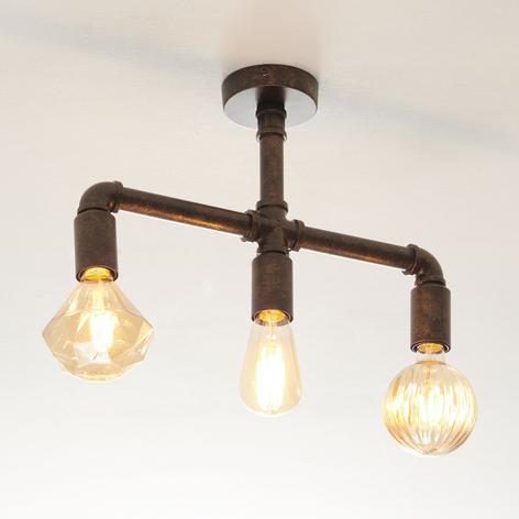 Leonas LED plafondlamp, industriële stijl, 3-lamps