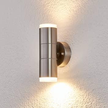 Utevegglampe Delina av rustfritt stål