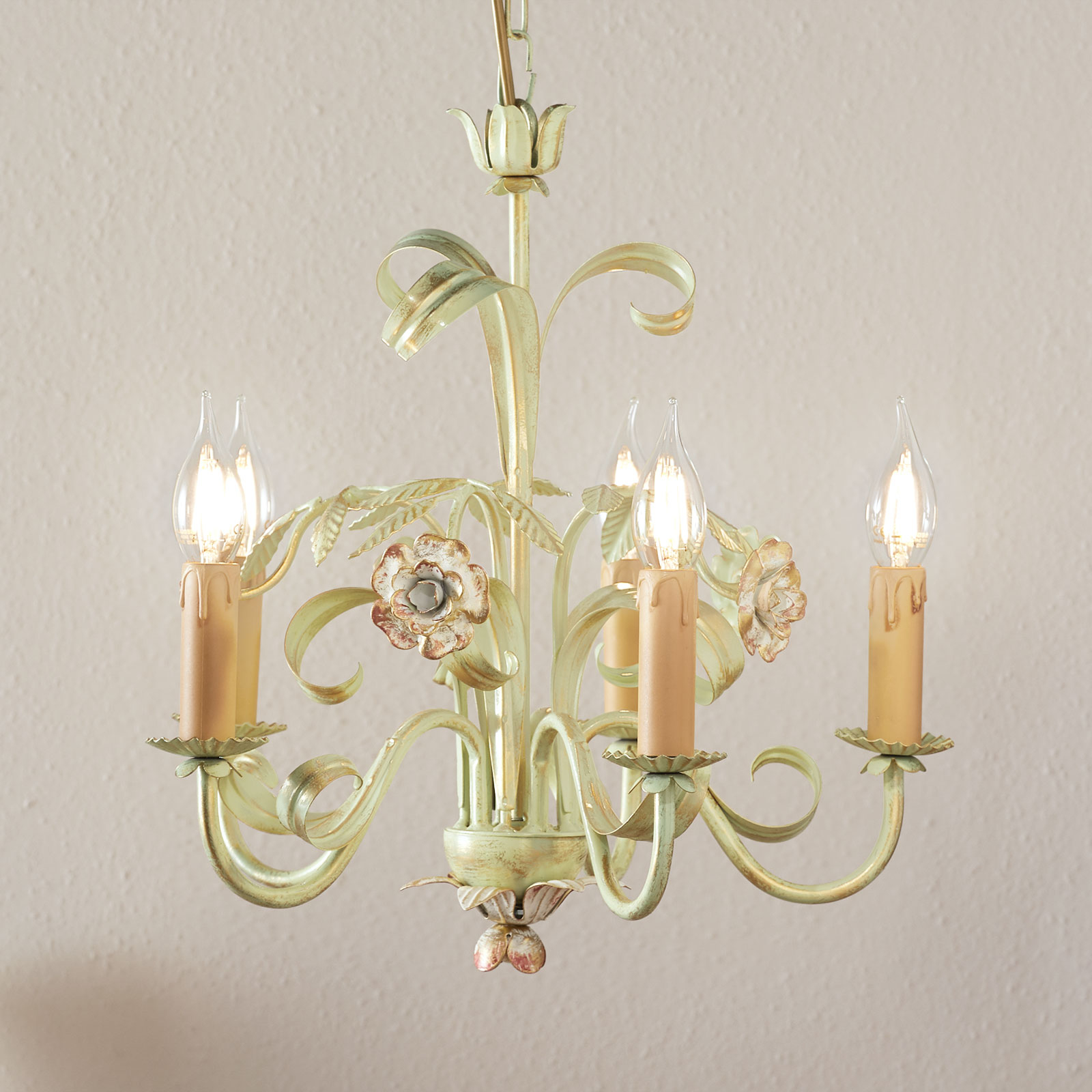 Ljuskrona Tulipe i florentinsk stil, 5 lampor