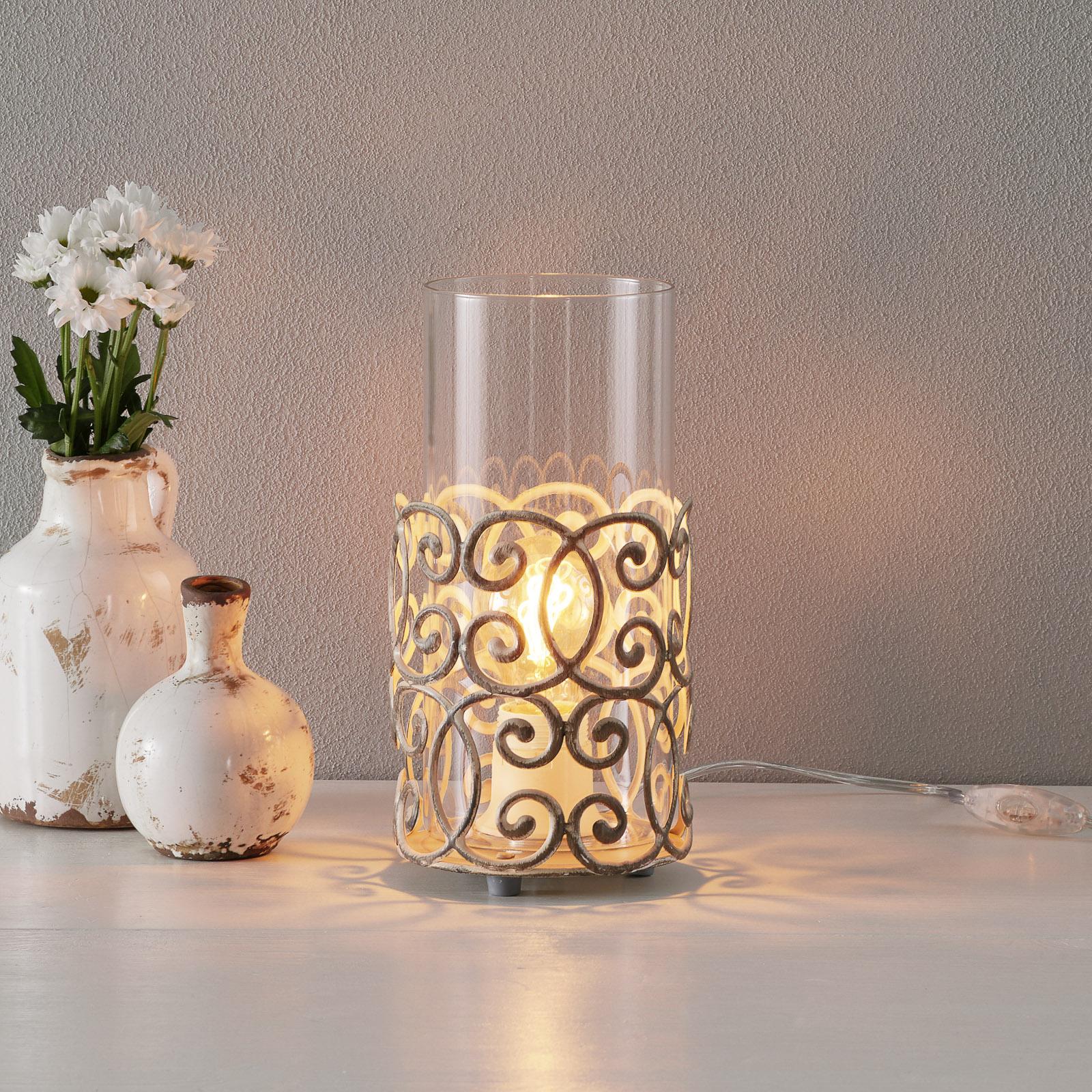 Vakker bordlampe Vintage