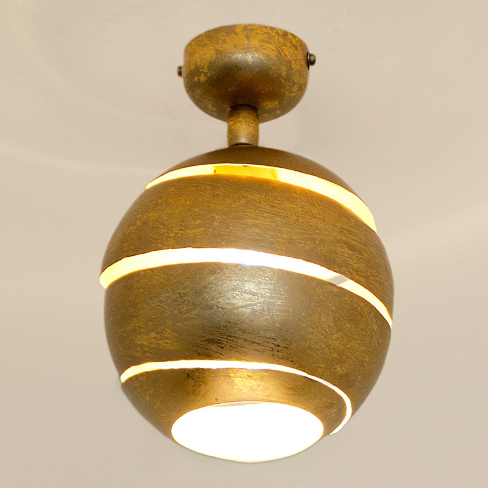 Zwenkbare plafondlamp Suopare in goud