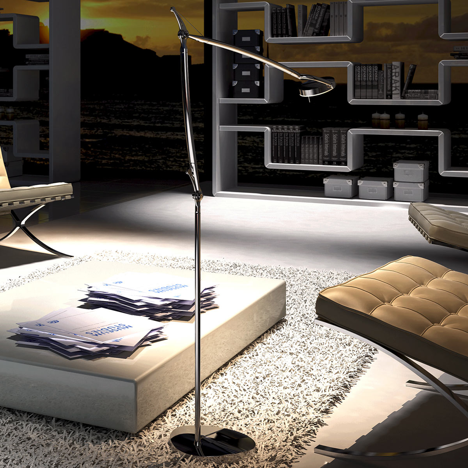 Lampadaire moderne LED Perceval