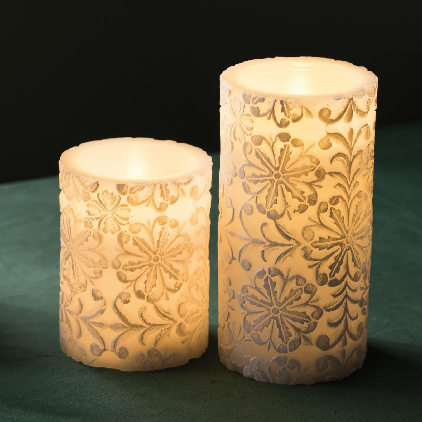 Pauleen Little Lilac Candle LED-kerte, sæt m 2 stk