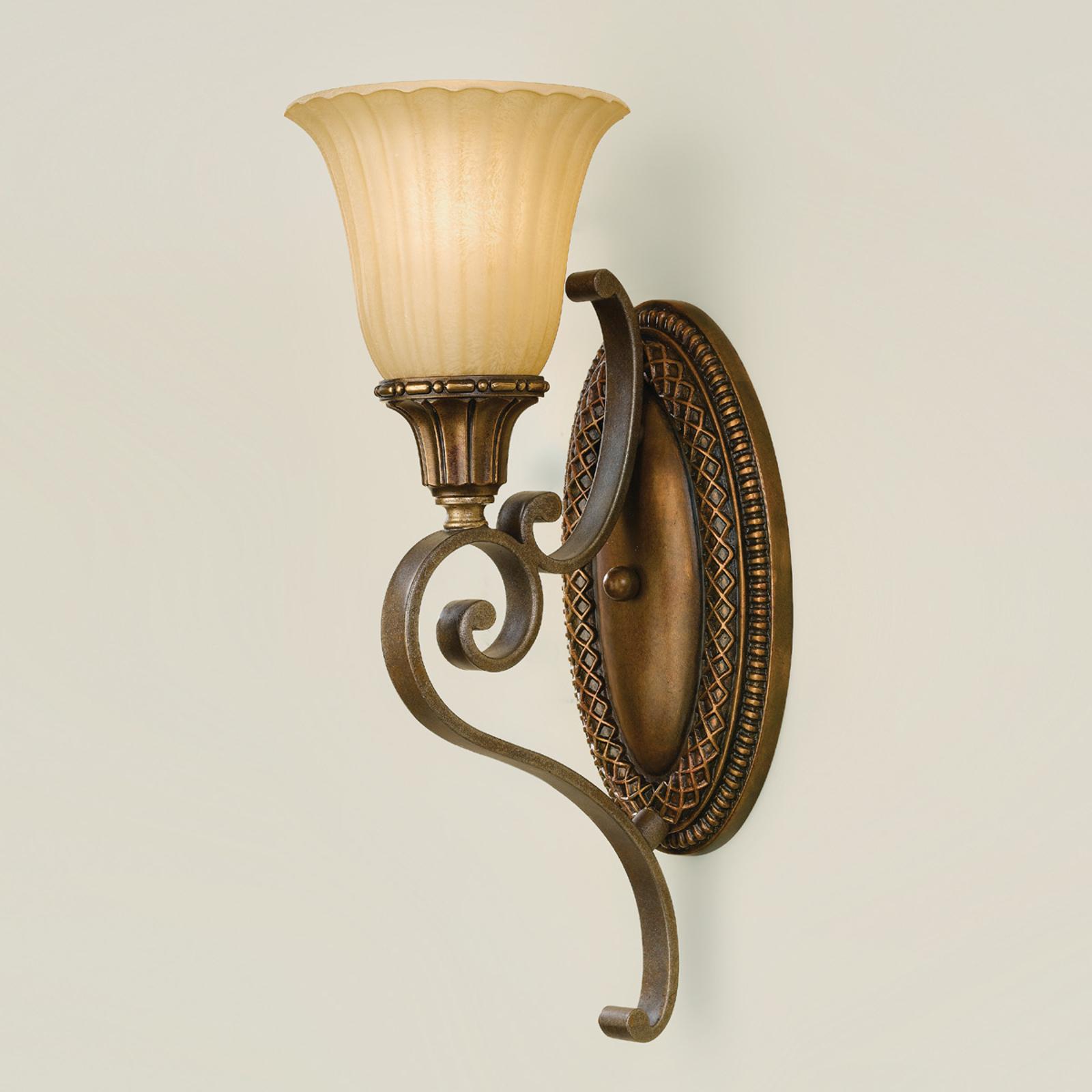 Lampa ścienna KELHAM HALL brązowa/złota