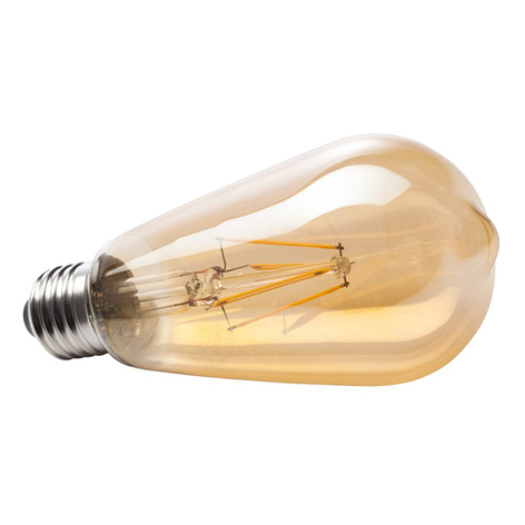 E27 6W 820 LED-filamentti-rustiikkilamppu, kulta