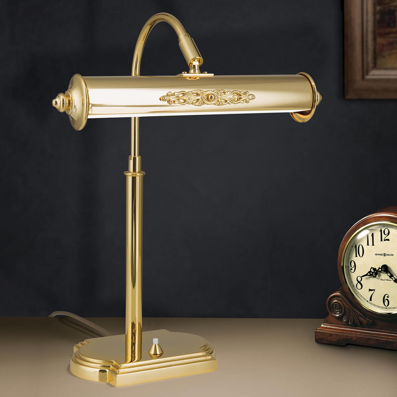 Nostalgisk bordlampe Picture, forgyldt