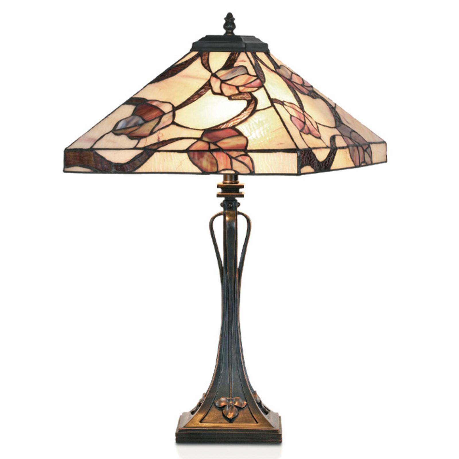 Lámpara de mesa APPOLONIA en estilo Tiffany
