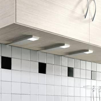 Lámpara LED bajo mueble Amaryll, set de 3 unidades