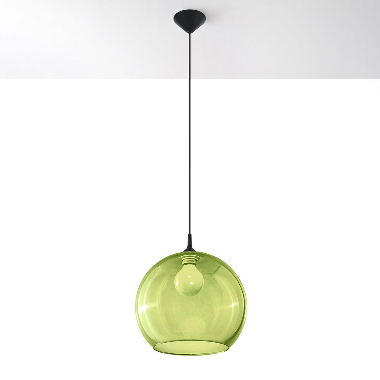 Hängeleuchte Colour, Glasschirm grün