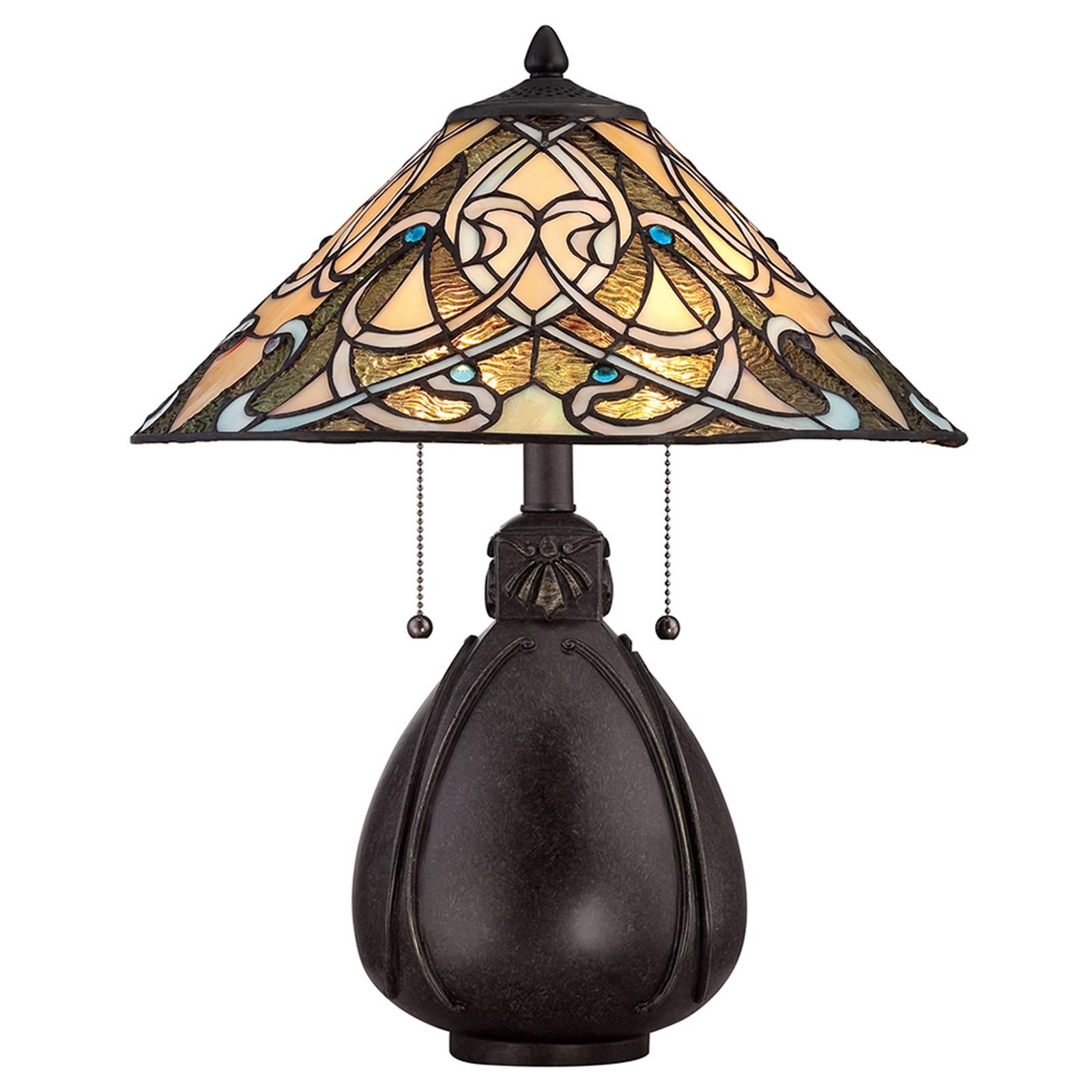 Tischleuchte India im Tiffany-Design