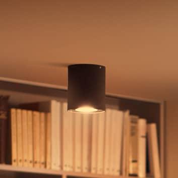 Philips Hue White Ambiance Pillar LED spot černá
