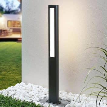 LED-väglampa Mhairi, kantig, mörkgrå, 100 cm